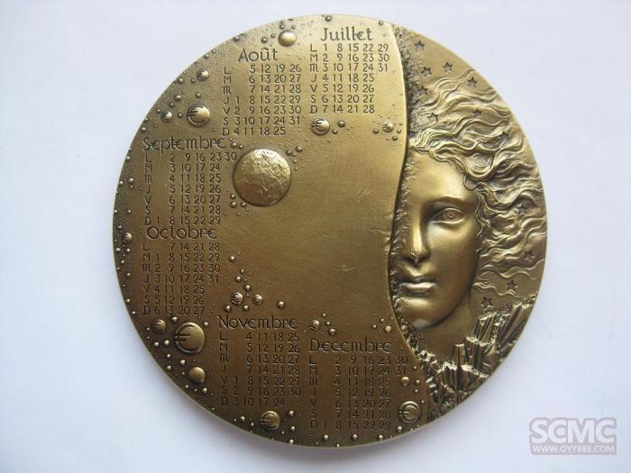 梅约2002年日历大铜章图片